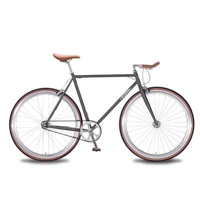 Foffa Bikes Single Speed Fahrrad, modern, Stahl und Lederelemente