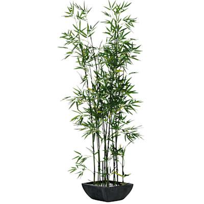 Kunstpflanze Bambus, Polyestergewebe/ Terrakotta, ca. H150 cm
