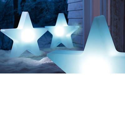 Deko-Objekt Stern Shiny, beleuchtet, outdoorgeeignet, Polyethylen, Durchmesser ca. 60 cm