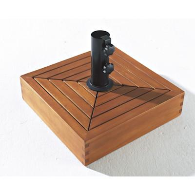 Sonnenschirmständer, Eckig, Holz ca. B40 x T40 x H29 cm