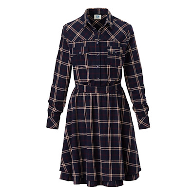 CANNERY ROW Vintage Kleid, Volant