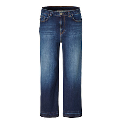 Brandalism Jeans, Offener Saum, weites Bein, Used-Look