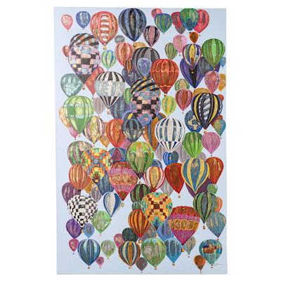 miaVILLA Bild Heißluftballons, bunt, handgemalt, modern, ca. 90 x 140 cm