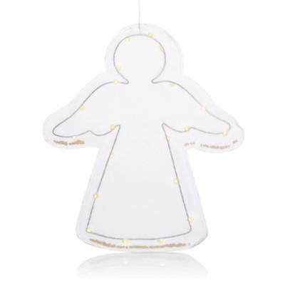 IMPRESSIONEN living LED-Engel mit Sternkonfetti, beleuchtet, klassisch, Papier, Metall