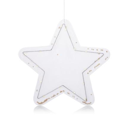 IMPRESSIONEN living LED-Stern mit Sternkonfetti, beleuchtet, klassisch, Papier, Metall