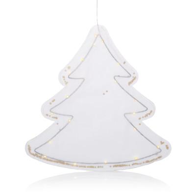 IMPRESSIONEN living LED-Baum mit Sternkonfetti, beleuchtet, klassisch, Papier, Metall