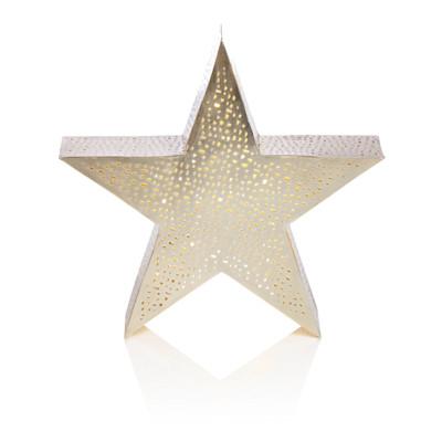IMPRESSIONEN living Beleuchteter Stern, Lochmuster, Metall, in zwei Größen