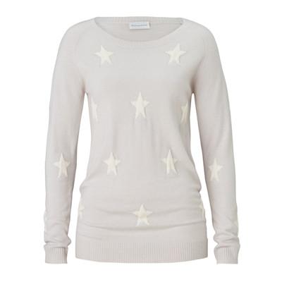 delicate love Pullover, Sterne, leger geschnitten, Kaschmir