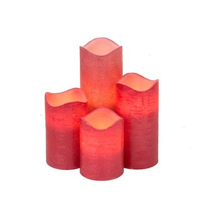 Best of home LED Kerzen 4-teilig Rot