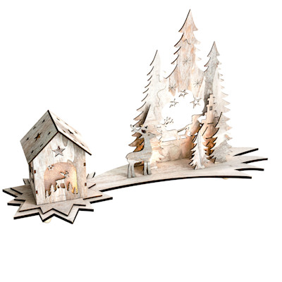 Best of home Beleuchtetes Deko-Objekt Winterwunderland