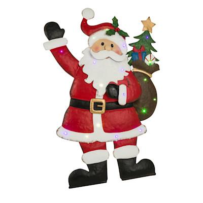 LED-Deko-Objekt Happy Santa, mit Blinkeffekt, ca. H90cm