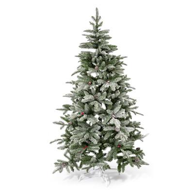 Deko-Tannenbaum beschneit, täuschend echt, Kunststoff, Metall, ca. H180 cm