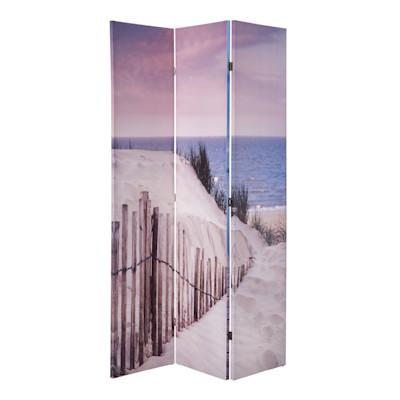 Paravent Strand, Foto-Druck, Leinwand, ca. 120 x 180 cm