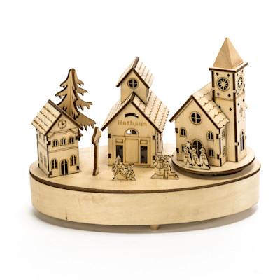 Best of home Spieluhr Beleuchtetes Dorf