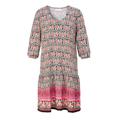 Brandalism Kleid, Volant, 3/4-Ärmel, oversized, Boho-Style