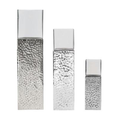Best of Home Windlicht Square Silber 80 cm x 20 cm x 20 cm