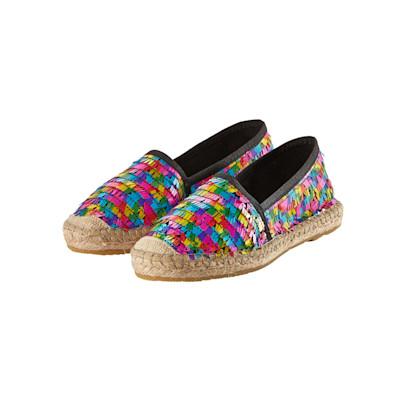 Cute Couture Slipper, Pailetten, Multicolor, Ibiza-Style