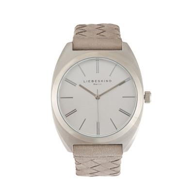 Armbanduhr, Flechtoptik, Drei-Zeiger-Uhr, Sunray-Zifferblatt, edel