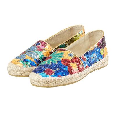 Cute Couture Slipper, mehrfarbig, Blumenmuster, Pailetten