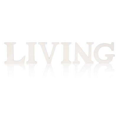 Schriftzug LIVING, 6-tlg, modern
