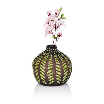 IMPRESSIONEN living Deko-Vase, eingebranntes Glasmuster