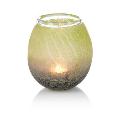 Windlicht, Craquelé, Glas
