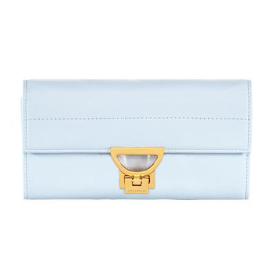 COCCINELLE Portemonnaie, goldfarbene Details, klassisch