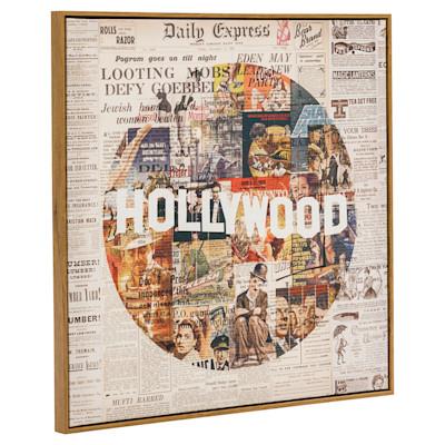 miaVILLA Bild Hollywood, Retro-Look, ca. 70 x 70 cm