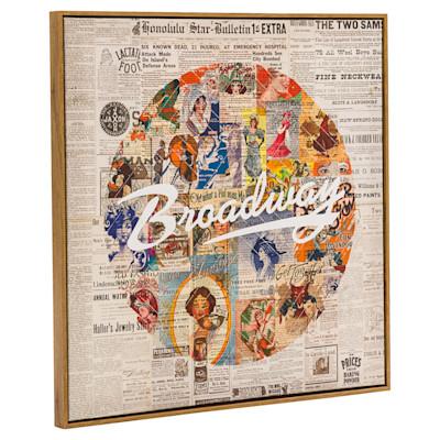 miaVILLA Bild Broadway, Retro-Look, ca. 70 x 70 cm