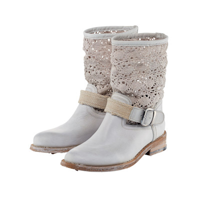 copo de nieve Boots, Vintage-Optik, Materialmix, Biker-Look