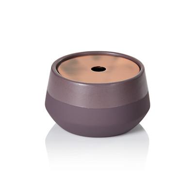 Aquanova Kosmetikdose, Soft-Touch-Beschichtung, edel, Keramik, Edelstahl