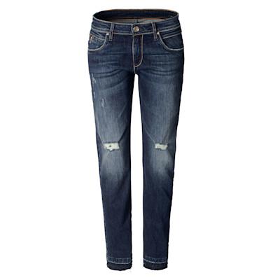 Brandalism Jeans, Zier-Zipper, Boyfriend, Used-Look