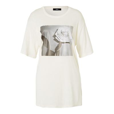 DIESEL T-Shirt, Flamé, gerade geschnitten, Casual