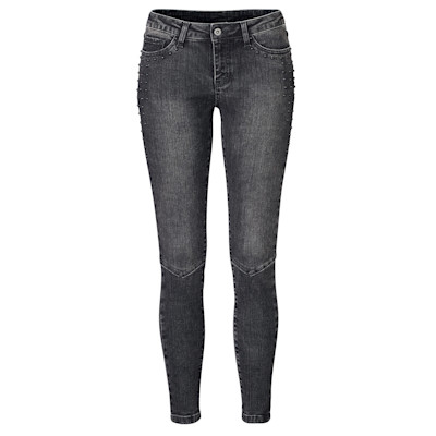 Brandalism Jeans, Nieten, Used-Waschung, Röhre, Biker-Look