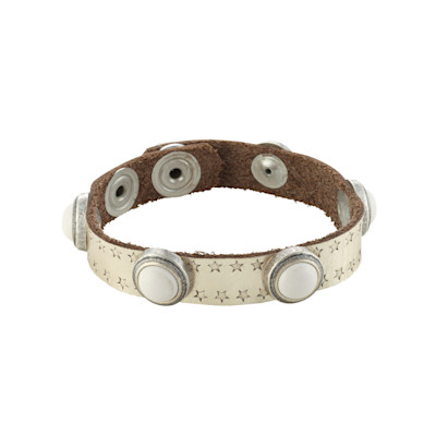 NEDELMANN Armband, Metallicfinish, Schmucksteine