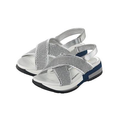 ALTRA OFFICINA Sandale, Metallic-Optik, Materialmix, Plateausohle