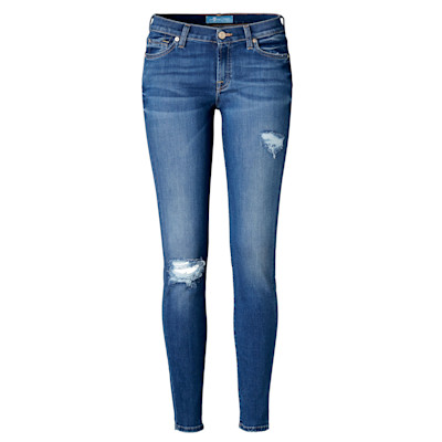 7 for all mankind Röhrenjeans the skinny, Stretch-Denim, b(air), Used-Look