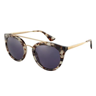 PRADA Sonnenbrille, Cat-Eye-Style, Doppelsteg, lila Gläser, elegant