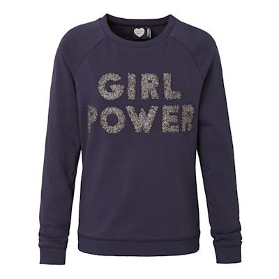 CATWALK JUNKIE Sweatshirt, Girl Power, Schriftzug, Casual