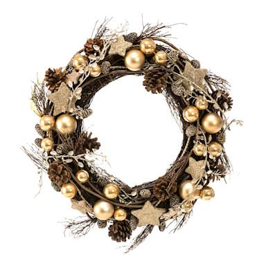 miaVILLA Dekokranz Copper, weihnachtlich, Romantik-Look, ca. Ø38 cm