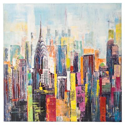 miaVILLA Bild Colored City, Handgemalt
