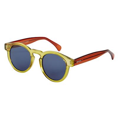 Komono Sonnenbrille, runde Gläser, Two-Tone, transparent