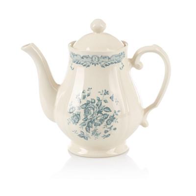Bitossi Teekanne, Blumendekor, Vintage-Look