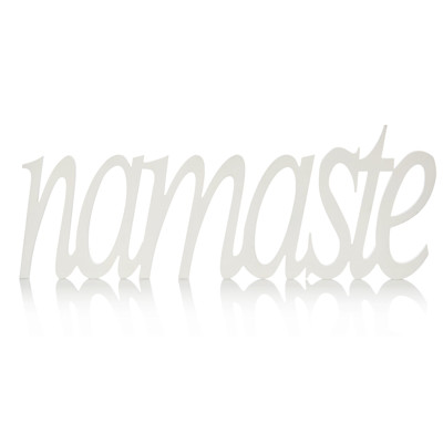 "IMPRESSIONEN living ""Schriftzug """"Namaste"""" 80 cm, Natur-Look"""