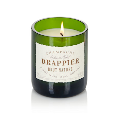 "Design Bubbles ""Duftkerze """"Champagne"""", Sandelholzduft, luxuriös, Bio-Sojawachs, Glas"""