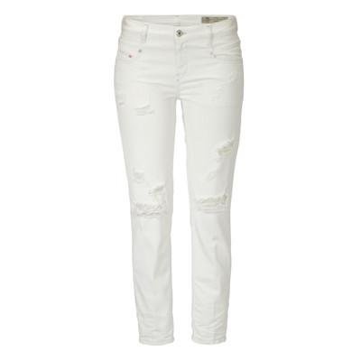 DIESEL Jeans, cropped, Destroyed-Effekte, Low Waist, schmales Bein