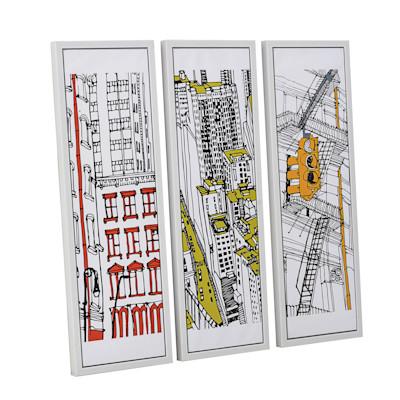 miaVILLA Bilder-Set, 3-tlg. Colorful New York, Farbakzente