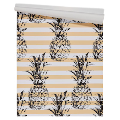 IMPRESSIONEN living Tapete Ananas, selbstklebend, modern, Vinyl