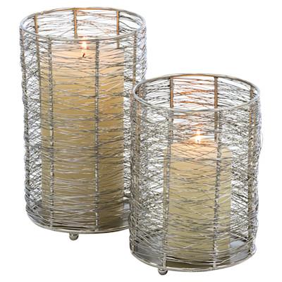 miaVILLA Windlicht-Set, 2-tlg. Wires, umflochten