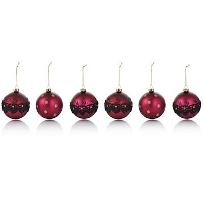 IMPRESSIONEN living Weihnachtskugeln Set, 6-tlg., klassisch, Glas